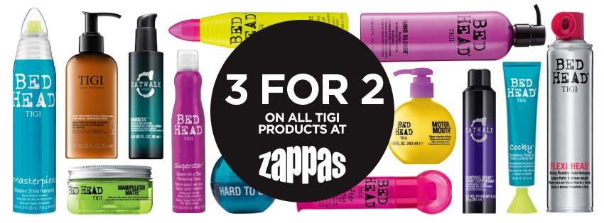 Tigi 3 for price of 2 offer