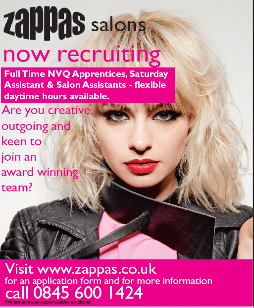 Vacancies at Zappas Hair Salons