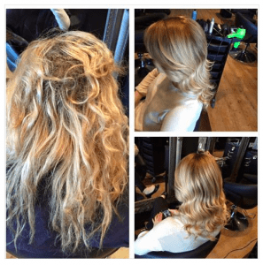 olaplex-before-and-after, zappas hair salons