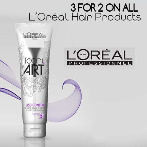 3 for 2 on ALL L'Oréal Hair Products