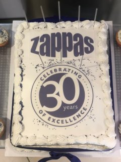 Zappas 30th Birthday Celebrations