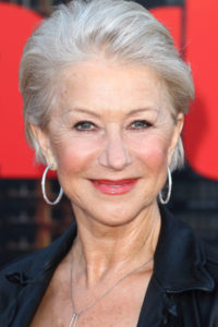 Helen Mirren fair skin grey hair, Hair Salons, Zappas Hair Salon, Berkshire, Hampshire