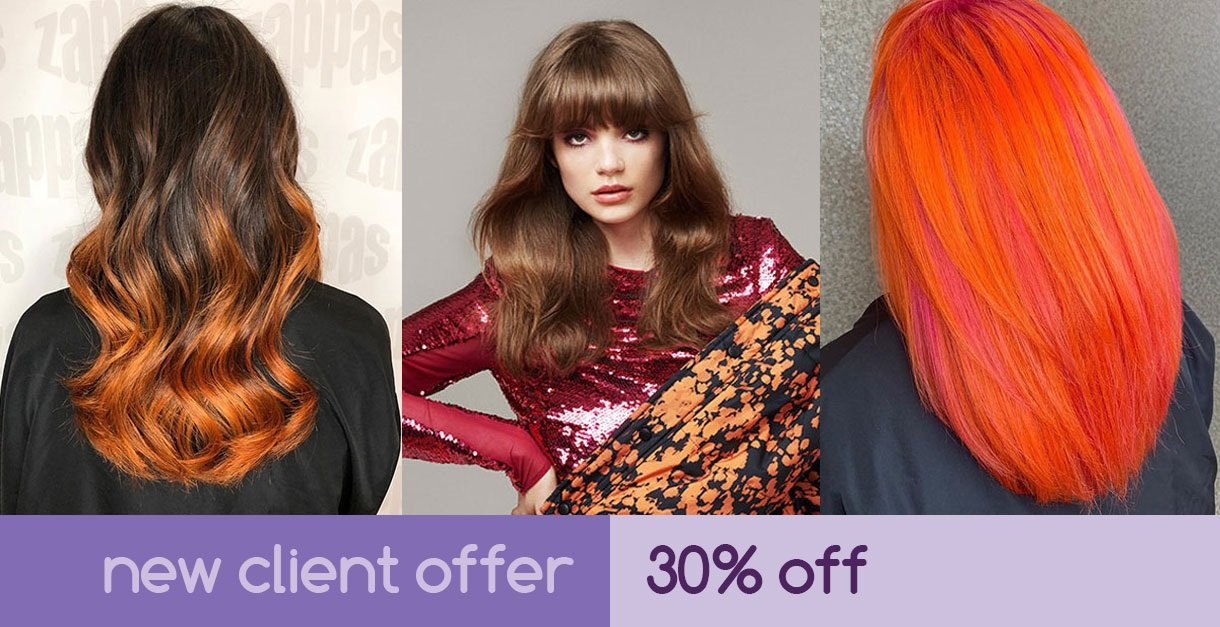 New clients get 30% OFF at Zappas Salons in Berkshire and Hampshire